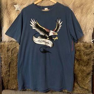 Ed Hardy Blue Short Sleeve T-Shirt